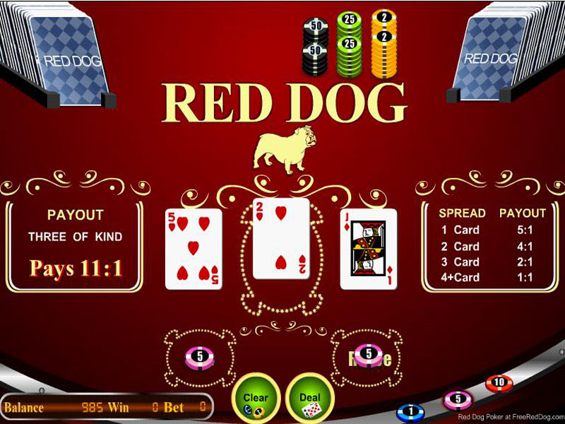 Red Dog Poker, also called Yablon or Red Dog, is an exciting casino card game.